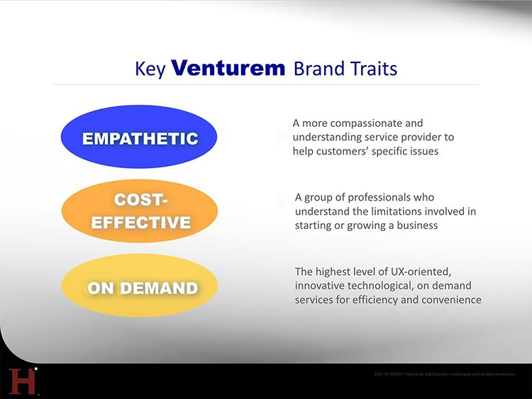 Venturem brand traits
